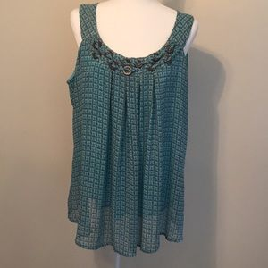 Dressbarn pullover tunic in teal